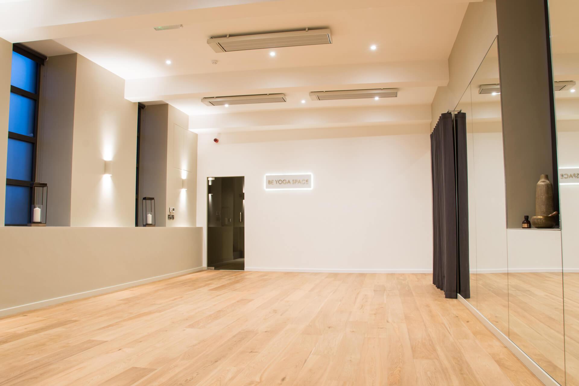 Be Yoga Space hot yoga studio floor