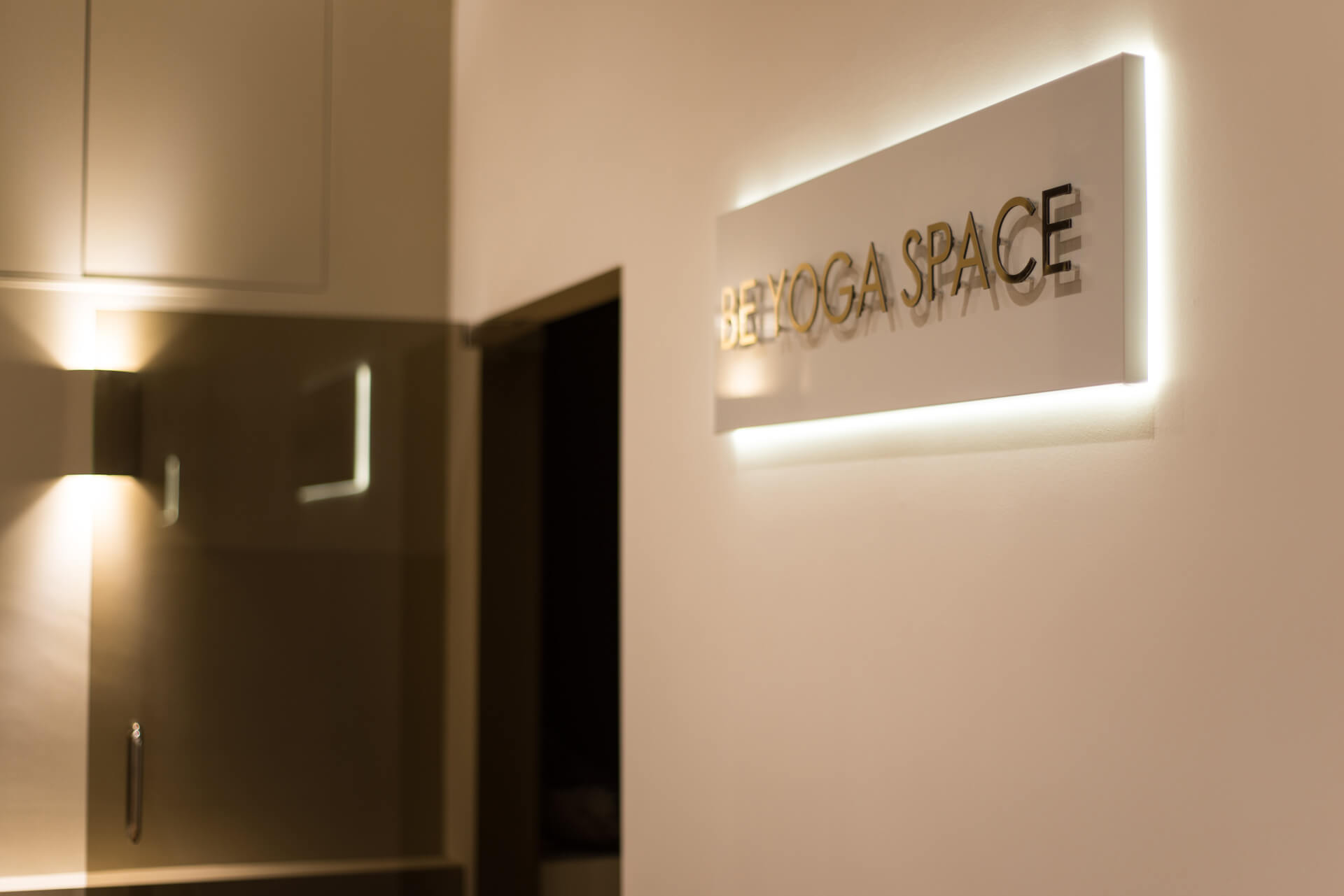Be Yoga Space sign and entrance