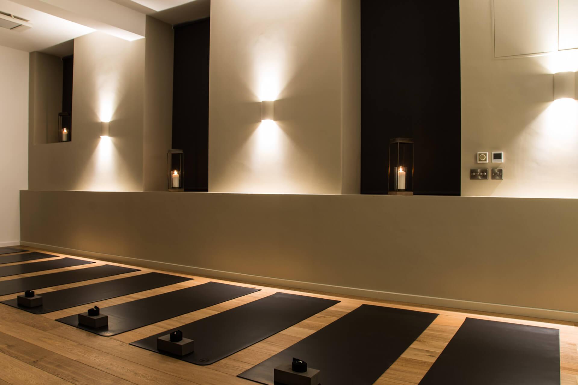 Be Yoga Space mats in studio